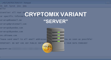 Server Cryptomix Ransomware Variant Released - Cyber security news