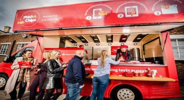 F1's Jenson Button takes Santander 'Phish and Chips' van for a spin