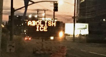 """Traffic sign near ICE headquarters hacked with """"Abolish ICE"""" message - Cyber security news"""