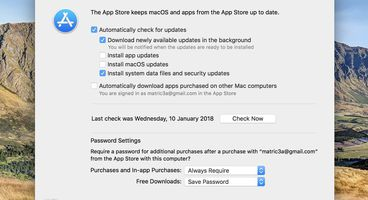 Security Flaw in macOS 10.13 Lets App Store Preferences Access with Any Password