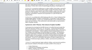 """Cyber Conflict"" Decoy Document Used In Real Cyber Conflict - Cyber security news"