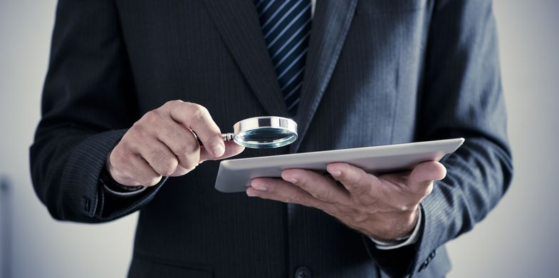 iStock_488874360, White Collar Crime, Surveillance, Discovery, Criminal Investigation, Job Search, Magnifying Glass, Internet, Analyzing, Occupation, Data, Examining, Employment And Labor, Finance, Searching, Looking, Business, Identity, Recruitment, Businessman, Document, Glass - Material, Job - Religious Figure, Mistake, Computer, Computer Crime, Computer Hacker, Computer Software, Detective