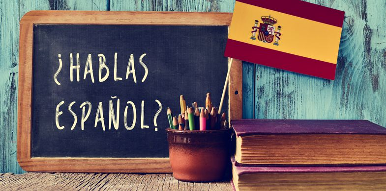 Spain, Spanish Language, Learning, Translation, Classroom, Education, 2015, Blackboard, Concepts, Concepts & Topics, Horizontal, Indoors, No People, Photography, Wood - Material