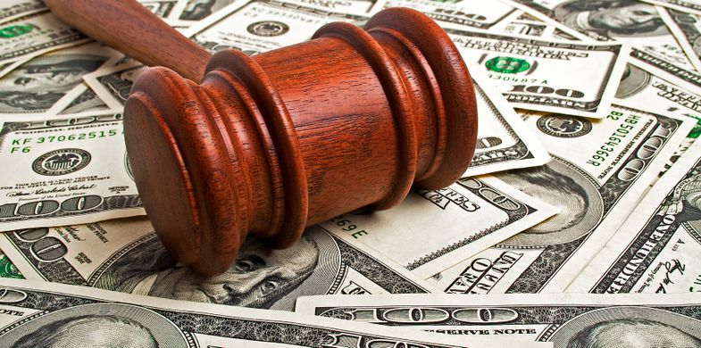 Gavel Human Settlement Currency Decisions Wages Legal System Recession Success Business Finance Paper Currency Horizontal USA Wood - Material Auction Prosperity Investment Mediation Stag Photography US Currency Paying 2015
