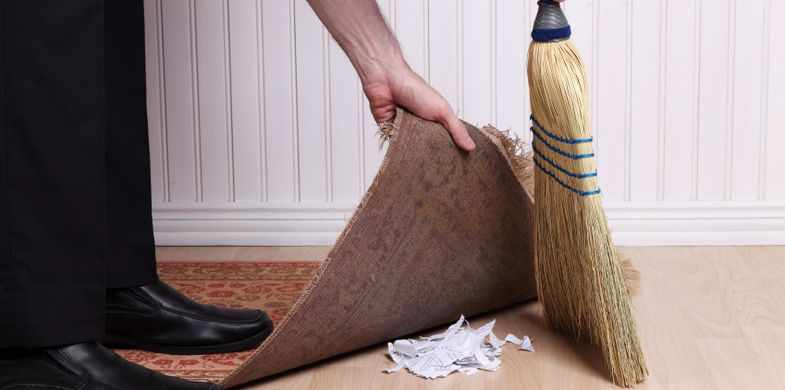 Rug Sweeping Destruction Businessman Dirt Document Messy Dirty Mischief Chores One Person Clean Human Leg Below Hiding Men Confidential Carpet - Decor Shredded Broom Unrecognizable Person Garbage Mystery Paper People Problems Solution Dishonesty Protection Privacy Domestic Room Cleaning