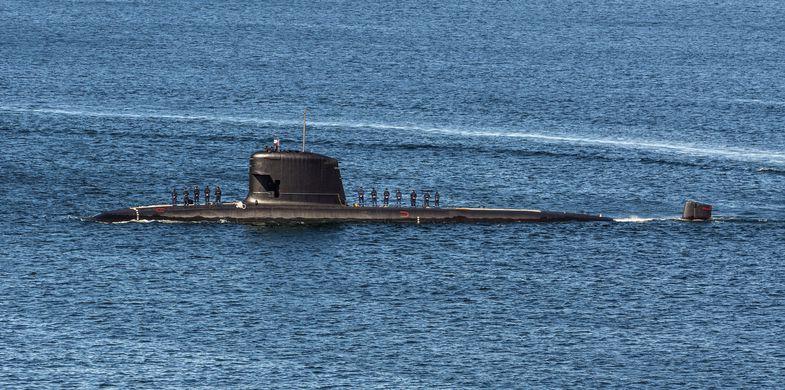 Submarine, Transportation, Horizontal, South America, Chile, Sea, Pacific Ocean, Sailor, Photography, Valparaiso - Chile, Valparaiso Region