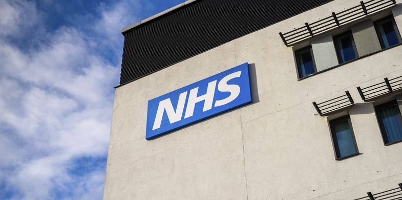 NHS, Hospital, Building Exterior, Sign, Healthcare And Medicine, Doctor, Nurse, Office, Group Of People, People, Concepts & Topics, Concepts, Care, Order, Trust, Horizontal, Modern, National Landmark, British Culture, Misfortune, Doctor