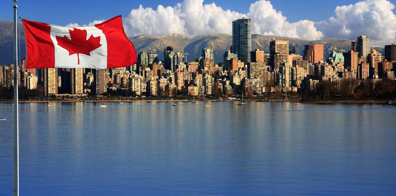 canada, flag, port, downtown, travel, view, buildings, tourism, park, water, destination, canada landscape, office buildings, town, vancouver downtown, canada maple leaf, waterfront, horizontal, vancouver city, urban, vancouver canada, town beautiful panorama, location, canada leaf, skyline, marina, vancouver skyline, yacht, vancouver mountains, vancouver, reflection, british columbia, stanley par