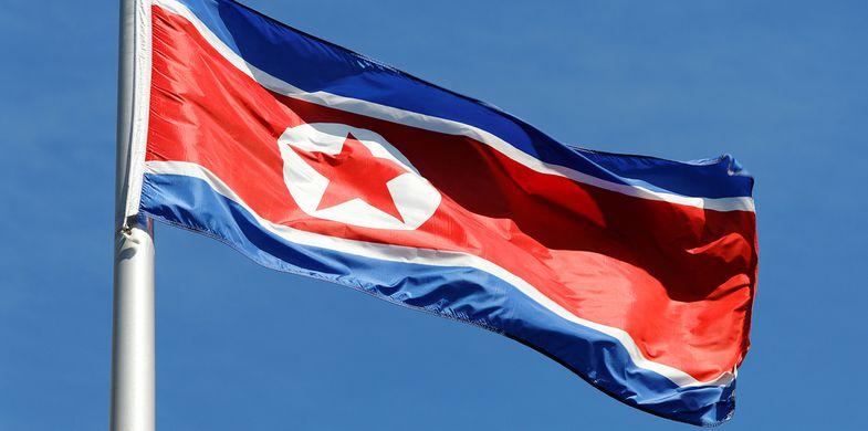 north, korea, flag, pyongyang, flagpole, communist, symbol, star, asia, waving, north korea, communism