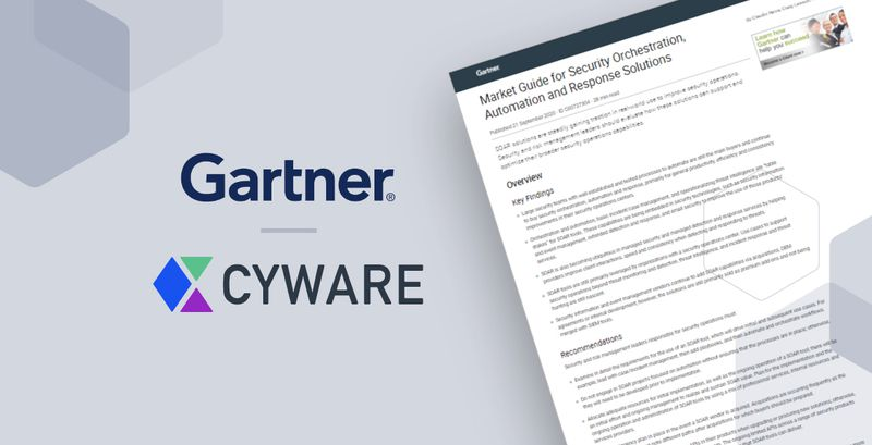 Cyware Recognized in Gartner's 2020 Market Guide for Security Orchestration, Automation, and Response Solutions, Cyware named as a Representative Vendor in the 2020 Report