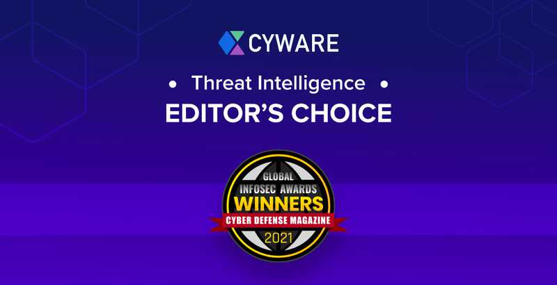 Cyware Named Editor's Choice Threat Intelligence Winner in the Global InfoSec Awards